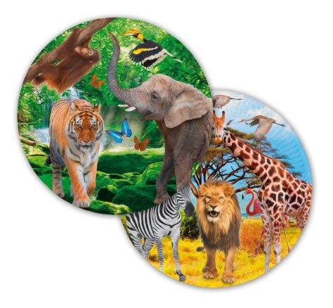 Safari & Dschungel Teller 8 Stk.