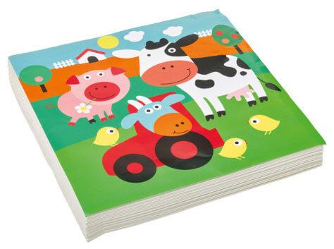 Servietten für den Kindergeburtstag-Bauernhof