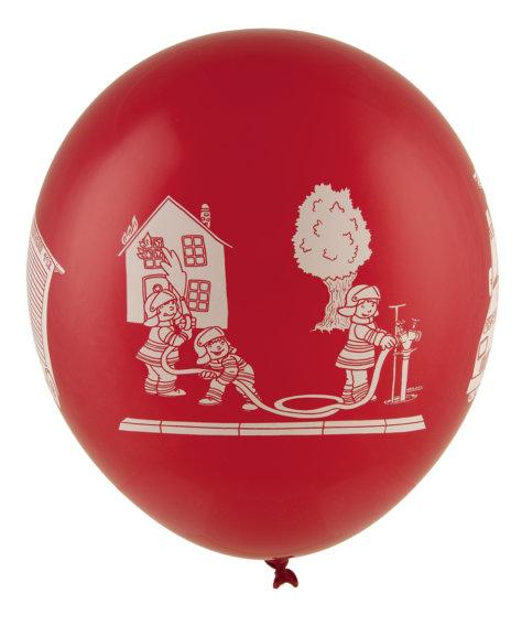 Roter Luftballon für den Feuerwehr-Geburtstag