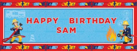 Banner für den Feuerwehr-Geburtstag