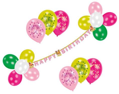 Luftballon Partyset für den Pferde-Geburtstag