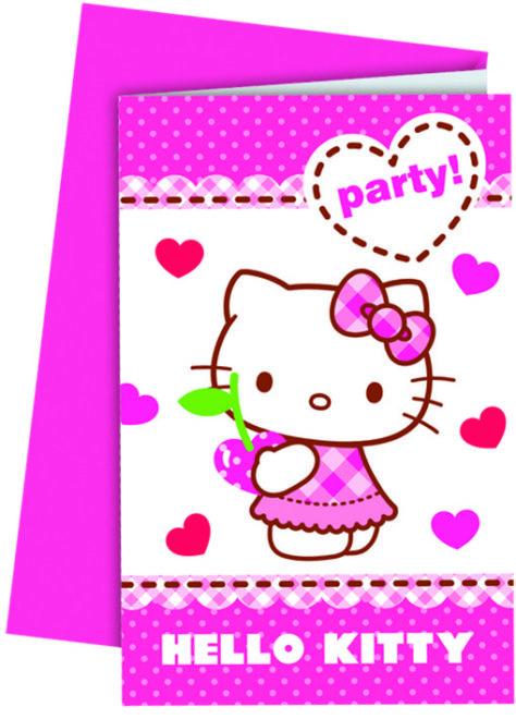 Einladungskarte zum Hello Kitty Geburtstag