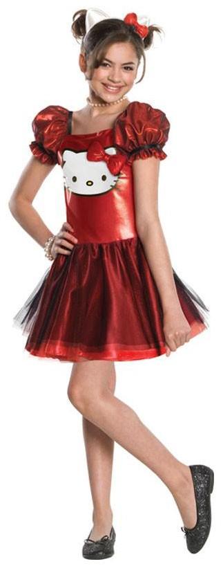 Rot Glätzendes Hello Kitty Kostüm