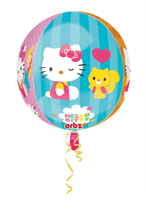 Luftballon Kugel für den Hello Kitty Geburtstag