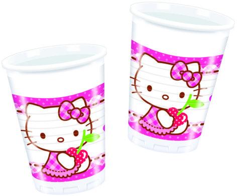 Kunststoffbecher für den Hello Kitty Geburtstag