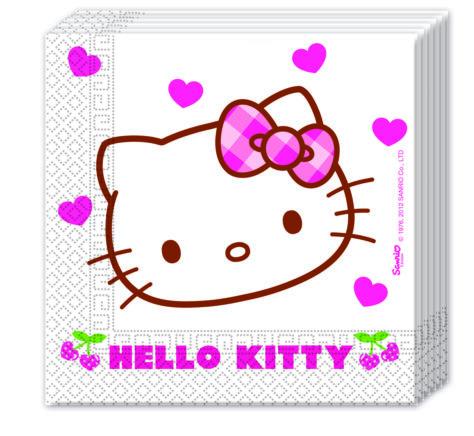 Servietten für den Hello Kitty Geburtstag