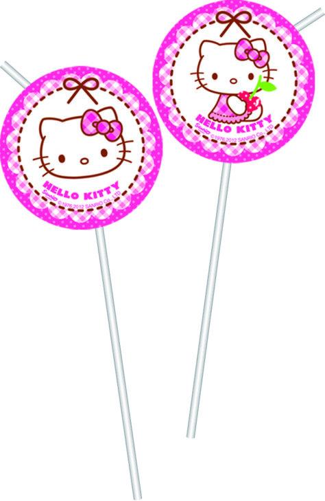 Trinkhalme für den Hello Kitty Geburtstag