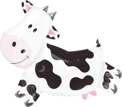 Kuh-Luftballon zum Bauernhof-Kindergeburtstag