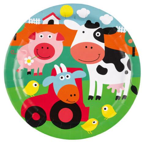 Teller für den Bauernhofgeburtstag