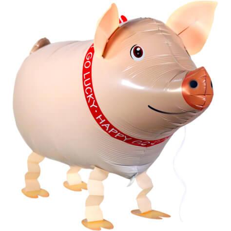 Schwein-Airwalker für den Bauernhof-Geburtstag