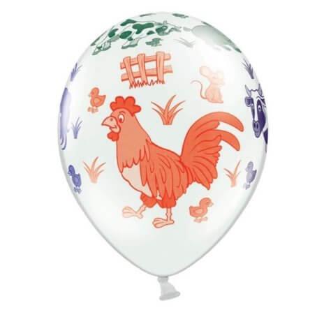 Hahn-Luftballon zum Bauernhofgeburtstag