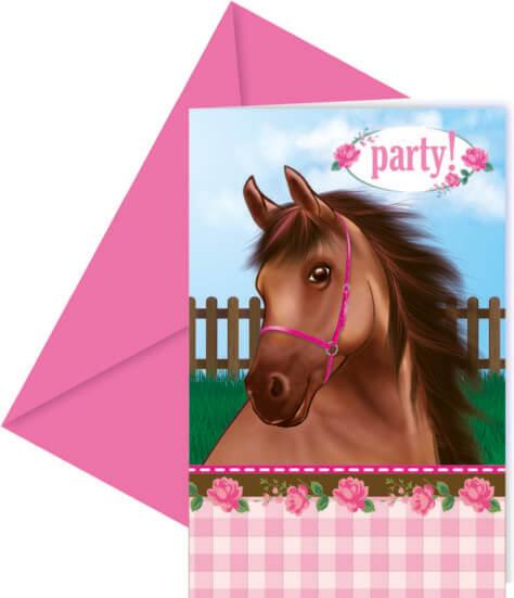 Einladungskarte zum Pferde-Geburtstag