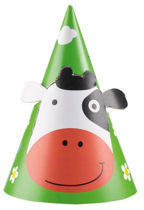 Partyhut zum Bauernhof-Kindergeburtstag