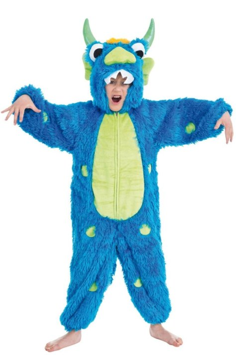 Plüschiges Monster-Party Kostüm