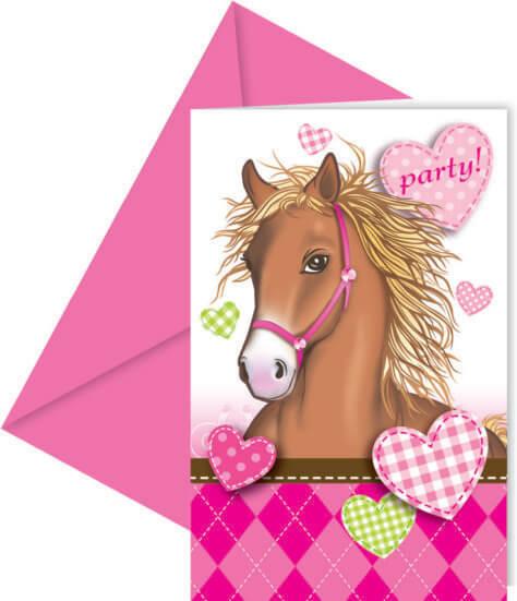 Einladung zum Kindergeburtstag Pferde