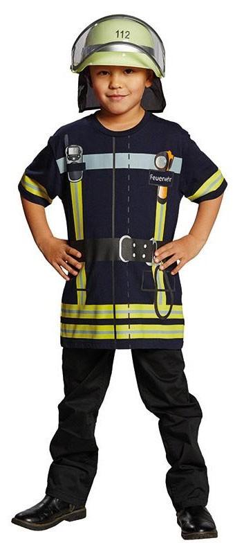 Kinderkostüm für den Feuerwehr-Geburtstag