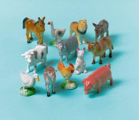 Bauernhof-Geburtstag Tierfiguren