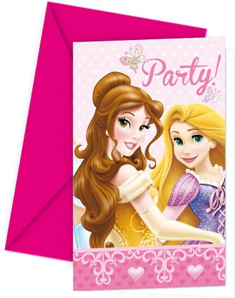 Einladungskarte Prinzessin-Geburtstag Disney