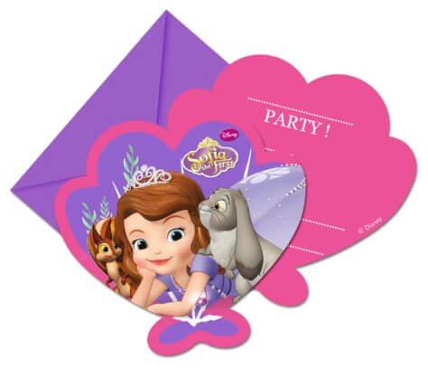 Einladungskarte Prinzessin-Geburtstag Sofia