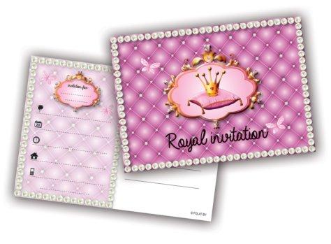 Einladungskarte Prinzessin-Geburtstag Royal