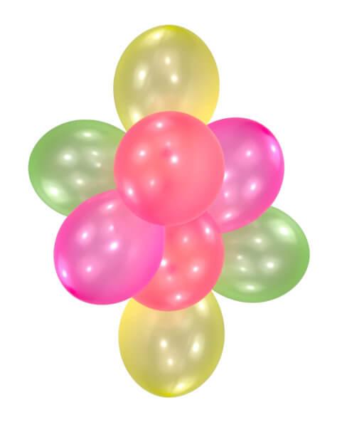 Ballons für die Kinderdisco