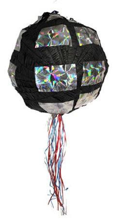 Discokugel Pinata für den Disco Kindergeburtstag