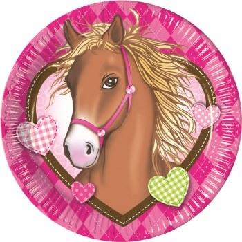 Pferde-Geburtstag Pappteller