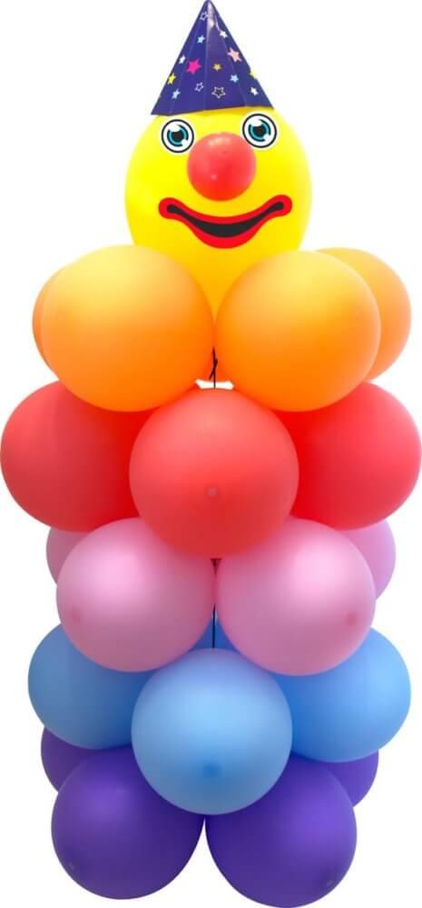 Kinderfasching Luftballons Clown