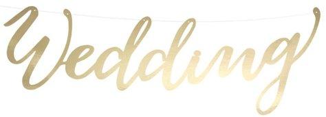 Hochzeitsdeko Girlande Gold