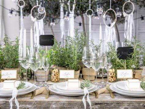 Nachhaltig Feiern Tischdeko