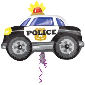 Luftballon Polizeiauto Detektiv Geburtstag