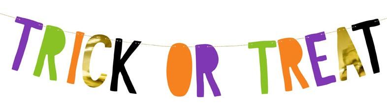 Trick or Treat Girlande für die Halloween Party für Kinder