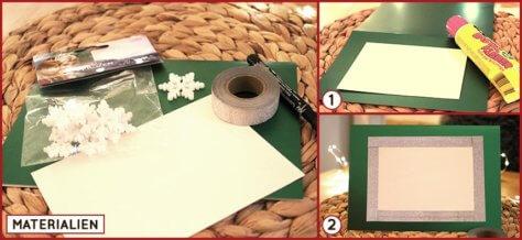Weihnachtskarte grün DIY