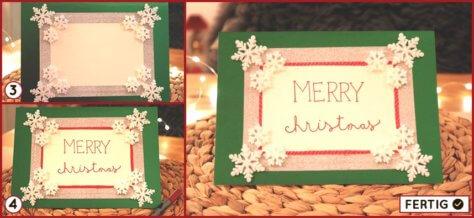 Merry Christmas Karten basteln