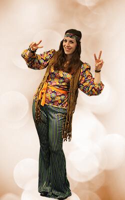 Flower Power Hippie Damenkostüm