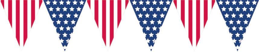 Wimpelkette mit amerikanischer Flagge