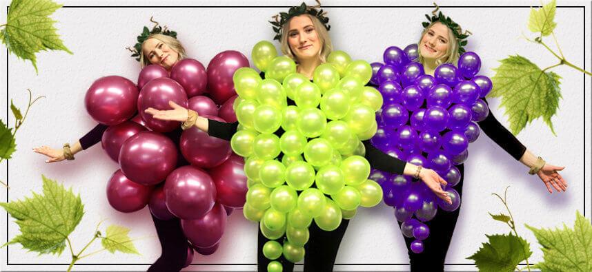 Trauben Kostüm aus Luftballons - Endbild