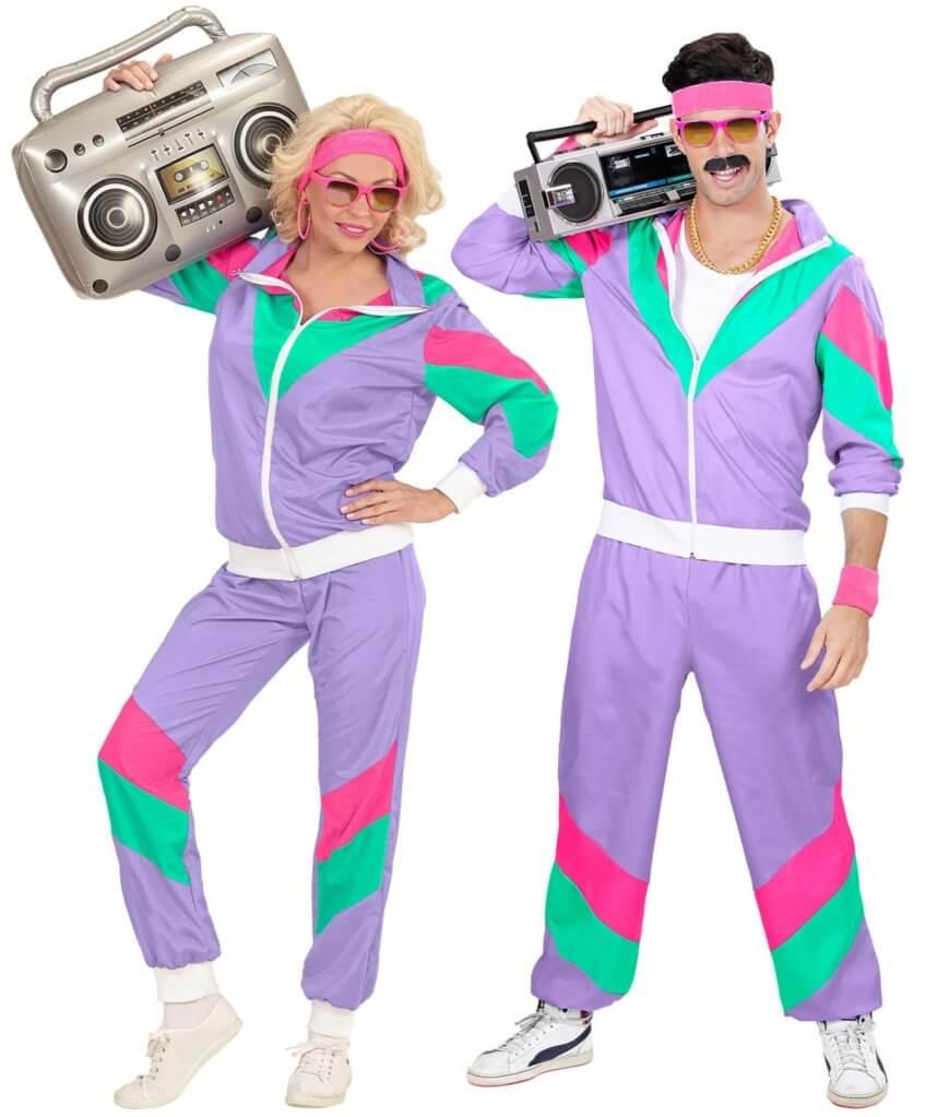 80er Jahre Jogginganzug Kostüm für Karneval