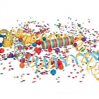 Konfetti für die Karnevalsparty zuhause