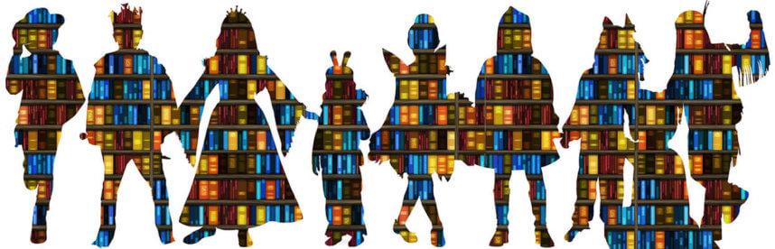 Kostüme für den Weltbuchtag Kindheitshelden