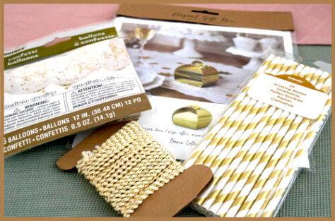 DIY Hochzeitsgeschenk - Materialien