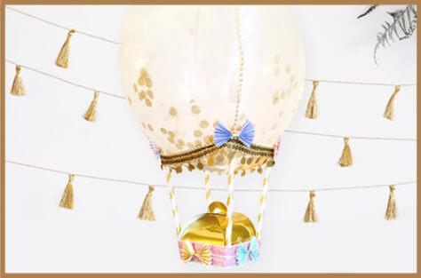 DIY Hochzeitsgeschenk im Heißluftballon