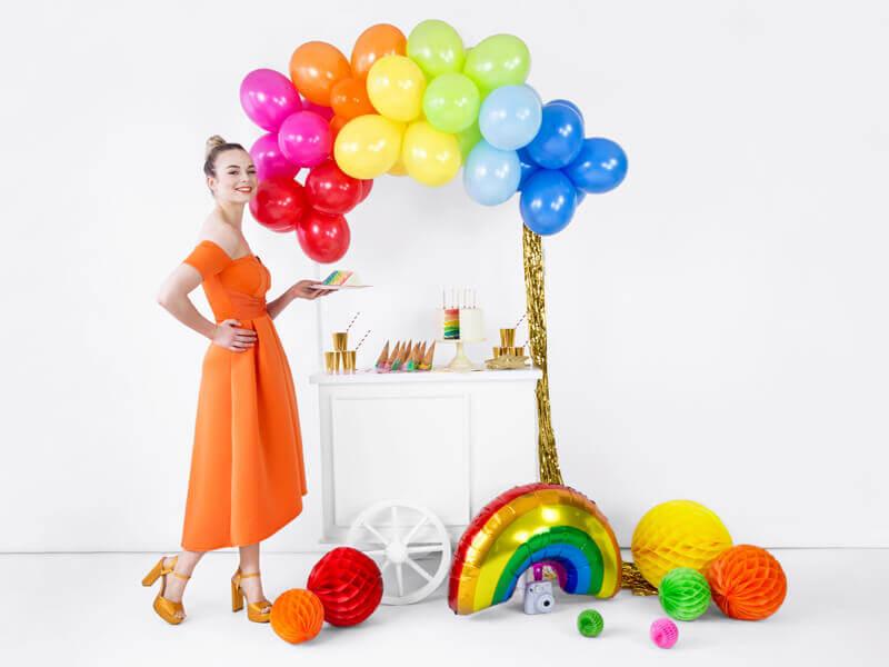 Bunte Ballongirlande Candy Bar Party Deko