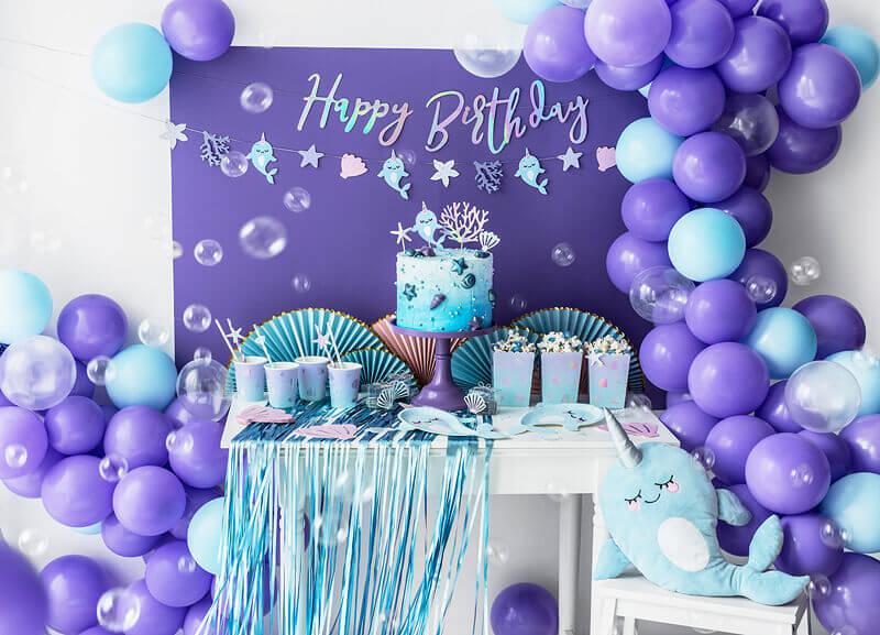 lila Ballon Girlande Meerjungfrauen Party Deko