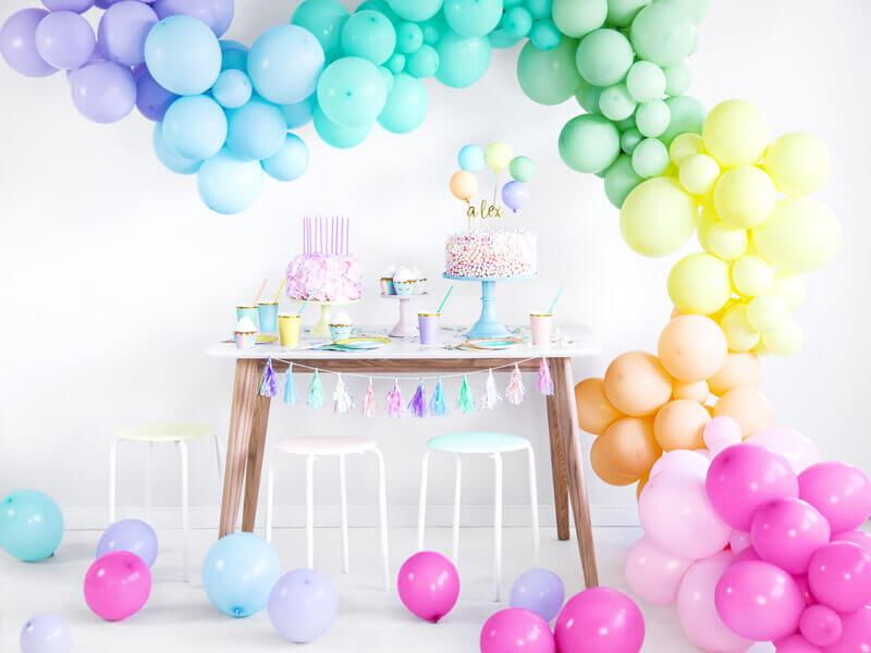 Bunte Pastellfarbene Farbverlauf Ballongirlande Partydeko