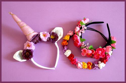 Einhorn Blumen Haarreifen