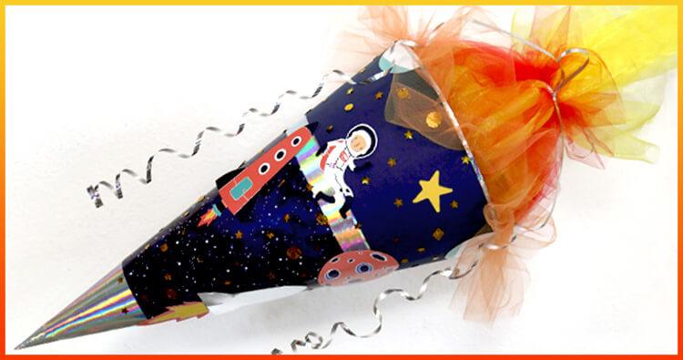 Fertige Raumschiff Galaxie Space Schultüte