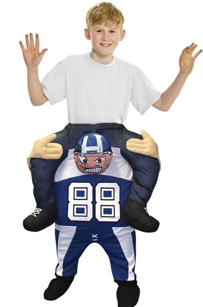 Lustiges Huckepack Football Kostüm