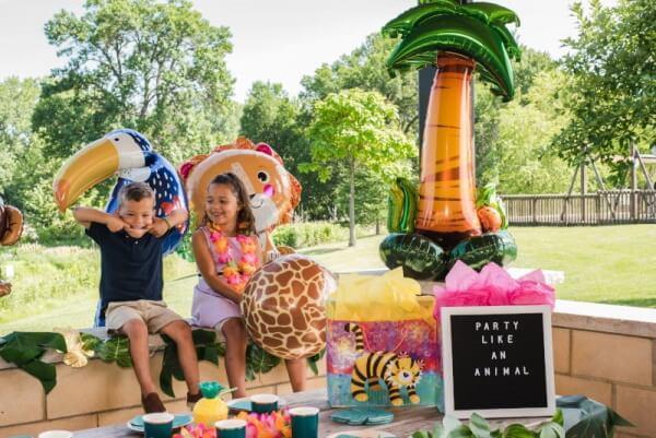 Dschungelparty mit Kindern
