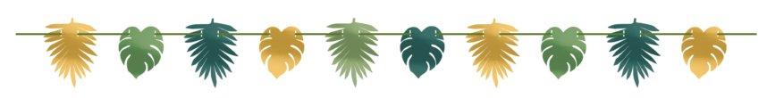 Dschungel Girlande mit Blättern